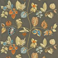 Arlecchino Fabric - Taupe/Orange
