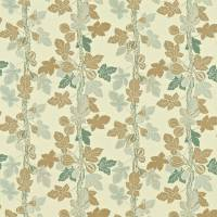 Fig Tree Fabric - Aqua/Biscuit
