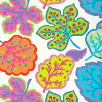 Jewel Leaves Fabric - Brights