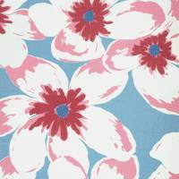 Olanda Fabric - Powder Blue/Pink