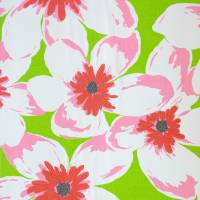 Olanda Fabric - Lime/Fuchsia