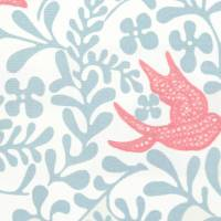 Larksong Fabric - Powder Blue/Pink
