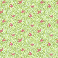 Larksong Fabric - Lime/Cerise
