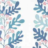 Malmo Fabric - Powder Blue/Pink