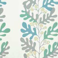 Malmo Fabric - Dove/Teal