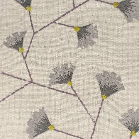 Sanderson Home Maida Fabrics Gingko Trail Fabric - Fig/Olive - 235887