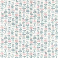 Stacking Pebbles Fabric - Sky/Blush