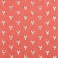 Cromer Embroidery Fabric - Coral