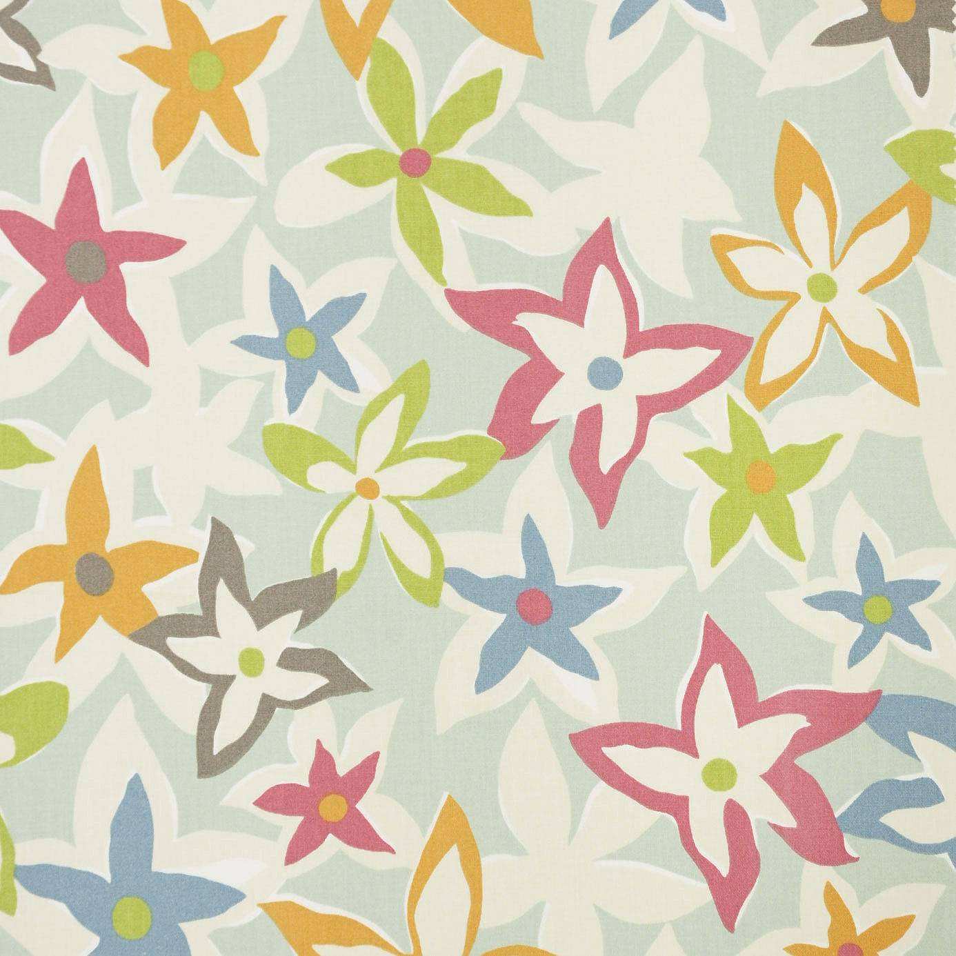 Starflowers fabric eggshell multi 222713 sanderson for Wallpaper home fabrics