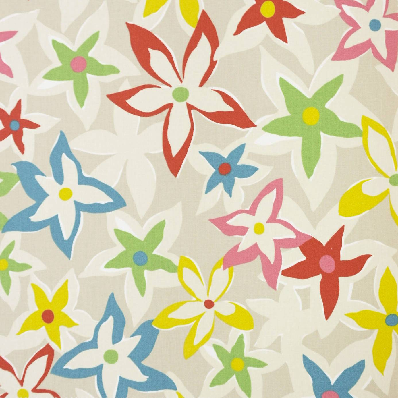 Starflowers fabric bright multi 222715 sanderson for Wallpaper home fabrics