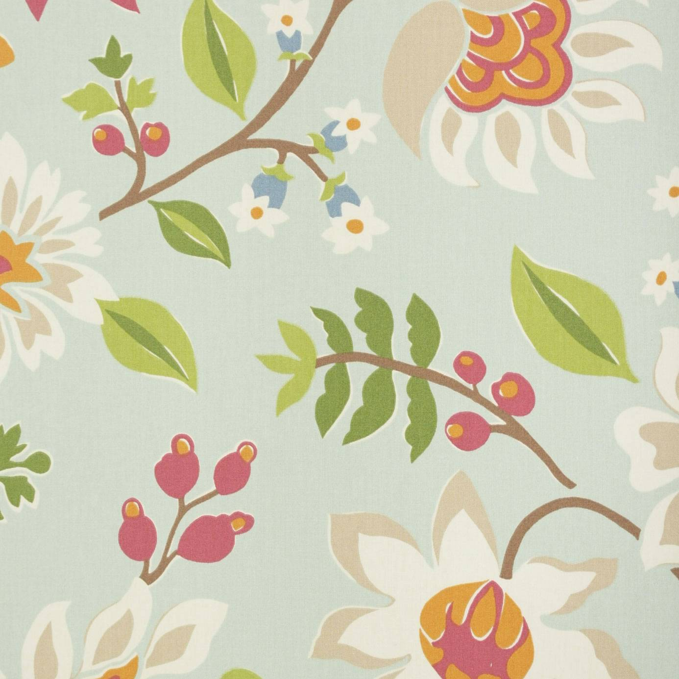 Myrtle fabric eggshell multi 222716 sanderson home for Wallpaper home fabrics