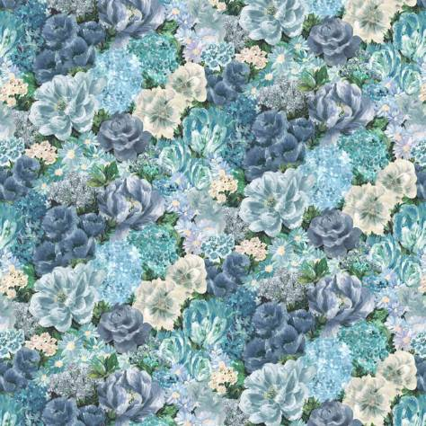 Blendworth Fabrics Antheia Fabrics Floribunda Fabric - Moonstone - ANTFLO1948
