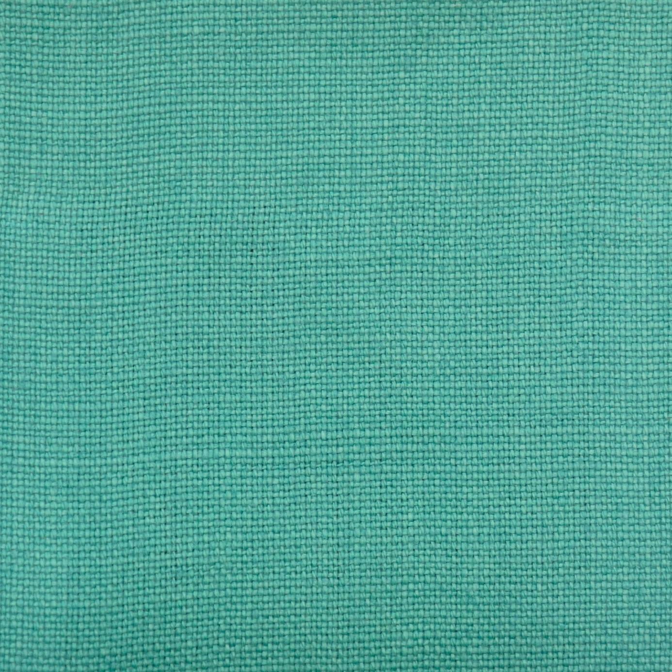 Curtains in slubby linen fabric turquoise slubby linen for Fabrics and materials