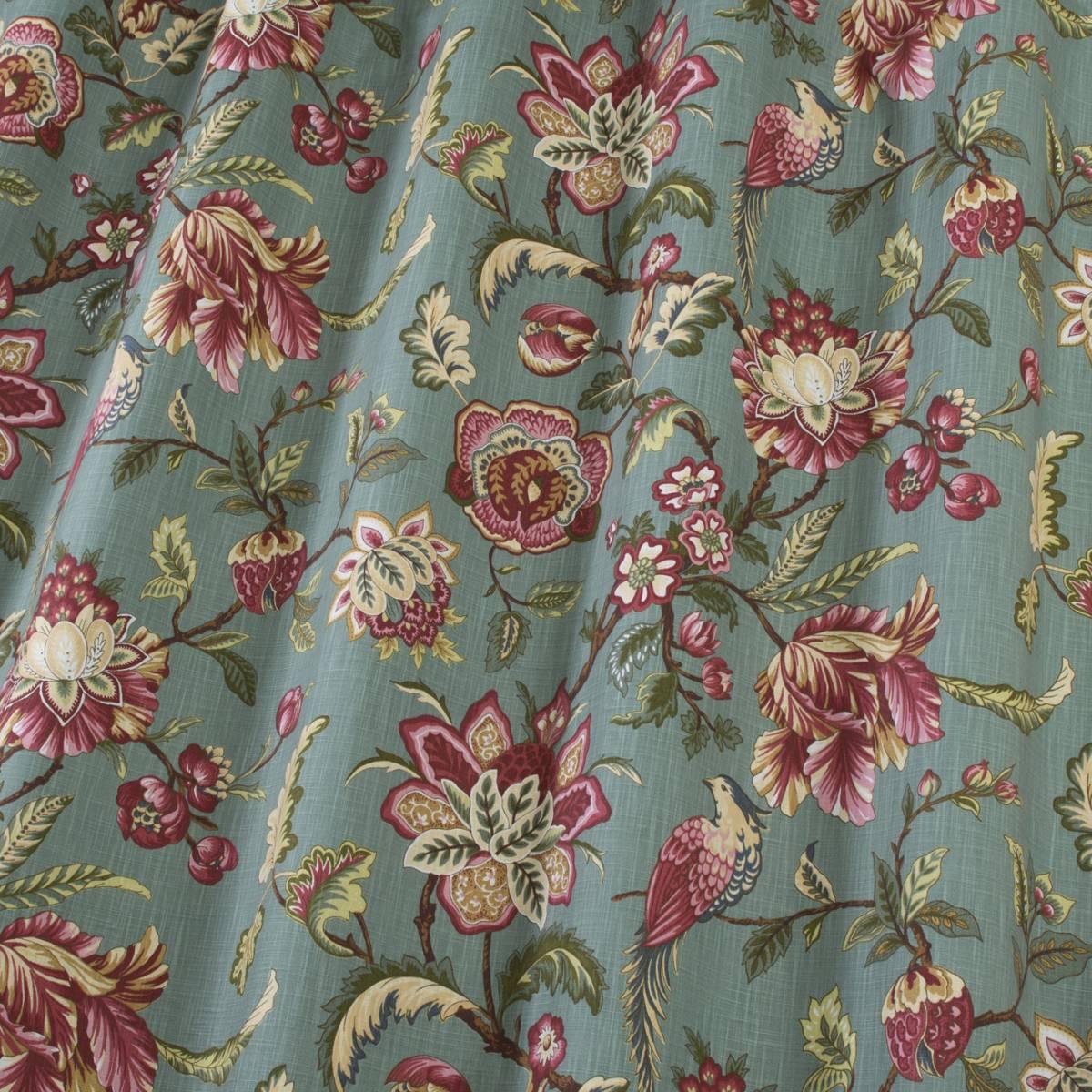 iLiv Linden Designer Floral 100/% Cotton Curtain Upholstery Blind FabricAzure