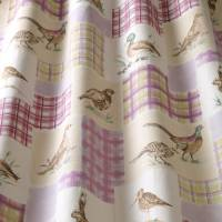 Moorland Animals Fabric - Elderberry