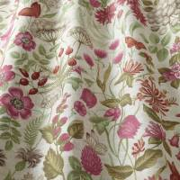 Field Flowers Fabric - Rouge