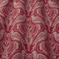 Song Thrush Fabric - Ruby