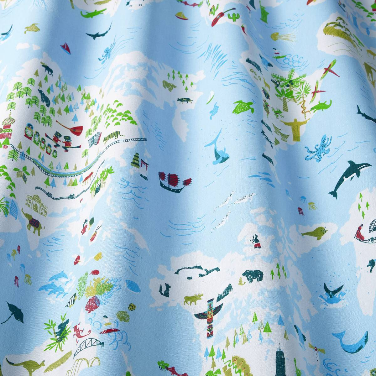 Roman blinds in big wide world fabric sea bigwideworld for Children of the sea fabric