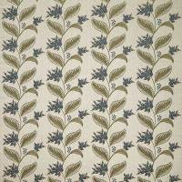 Berry Vine Fabric - Indigo