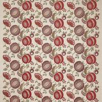 Figs & Strawberries Fabric - Ruby