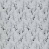 Feather Boa Fabric - Graphite