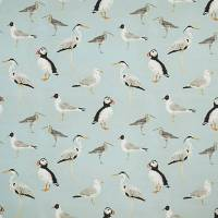 Seabirds Fabric - Aqua