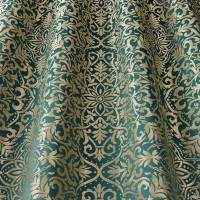 Brocade Fabric - Teal