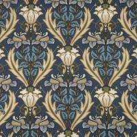 Acanthus Fabric - Navy