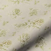 English Rose Fabric - Green