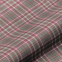 Harrogate Plaid Fabric - Fuchsia/Grey