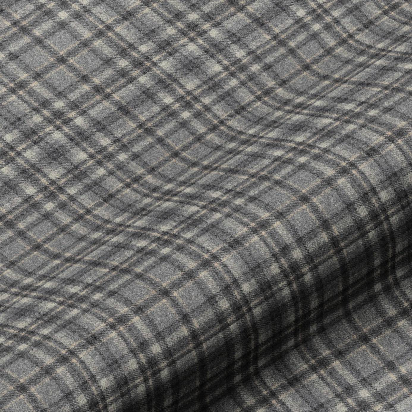 Harrogate Plaid Fabric Grey Black Harrogateplaidgrey