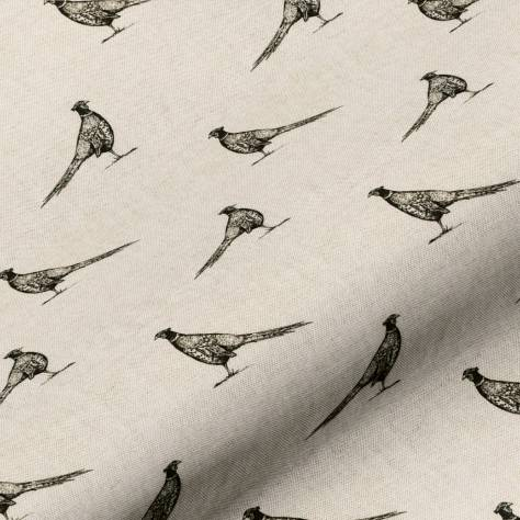 Art of the Loom Woodland Friends Fabrics Frank Fabric - Black/Linen - FRANKBLACK/LINEN