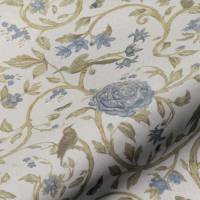 Victoria Floral Fabric - Blue
