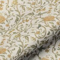 Victoria Floral Fabric - Gold