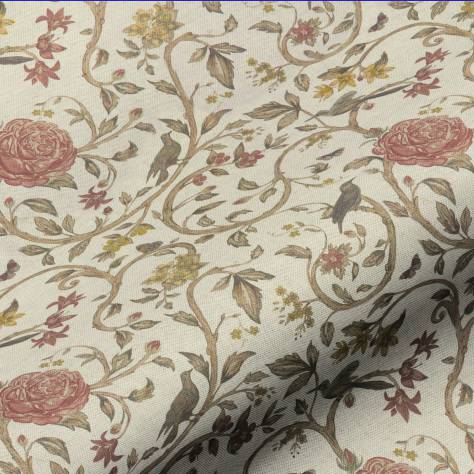 Art of the Loom Balmoral Fabrics Victoria Floral Fabric - Red - VICTORIAFLORALRED