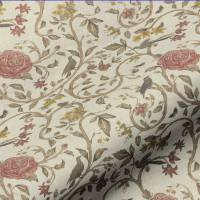 Victoria Floral Fabric - Red