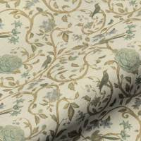 Victoria Floral Fabric - Teal