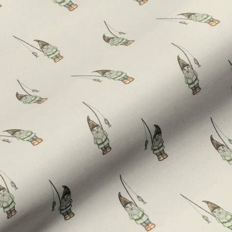 Art of the Loom English Country Garden Fabrics Garden Gnome Fabric - Natural - GARDENGNOMENATURAL