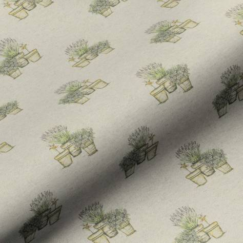 Art of the Loom English Country Garden Fabrics Plant Pots Fabric - Linen - PLANTPOTSLINEN