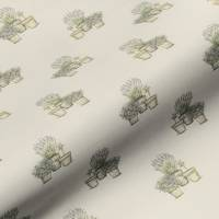 Plant Pots Fabric - Natural