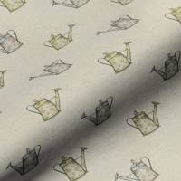 Watering Can Fabric - Linen