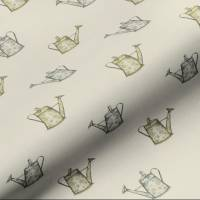 Watering Can Fabric - Natural