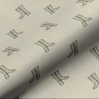 Wellington Boots Fabric - Linen