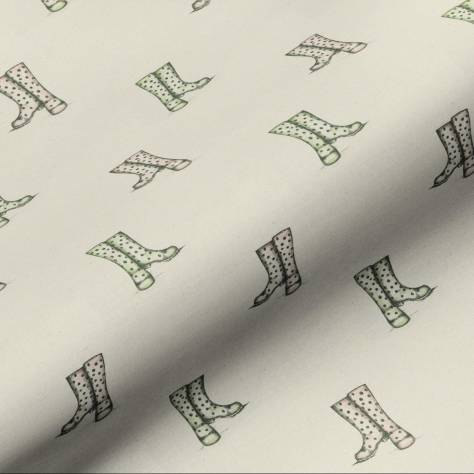 Art of the Loom English Country Garden Fabrics Wellington Boots Fabric - Natural - WELLINGTONBOOTSNATURAL