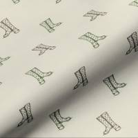 Wellington Boots Fabric - Natural