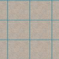 Glynn Check Fabric - Aqua