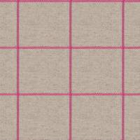 Glynn Check Fabric - Bubble Gum