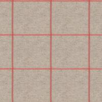 Glynn Check Fabric - Tangerine