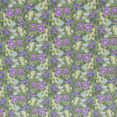 Art of the Loom Harewood Fabrics Full Bloom Fabric - Midnight - FULLBLOOMMIDNIGHT