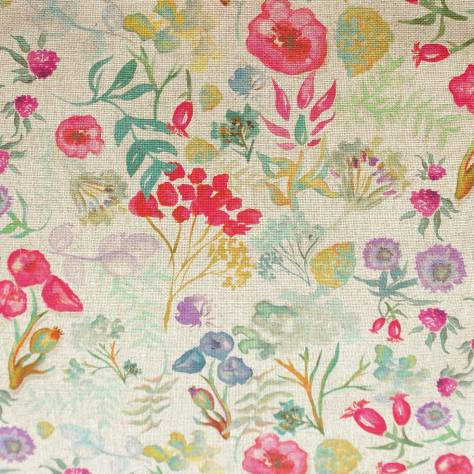 Art of the Loom Indian Summer Fabrics Poppy Fabric - Cerise - POPPYCERISE